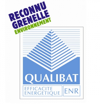 Entreprise certifiée « QUALIBAT et RGE ».